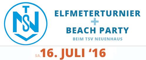 11 Meter Turnier & BEACHPARTY TSV Neuenhaus